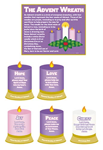 Religious Gifts The Meaning of The Advent Wreath Christmas Poster Set, 15 Inch
